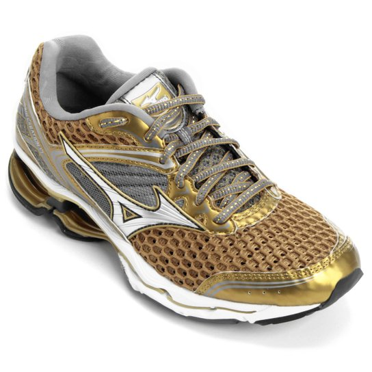 Tênis Mizuno Wave Creation 17 Golden Runners - Dourado+Branco a7e0bbfe86e74