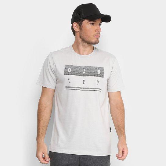 64b7112e77 Camiseta Oakley Mod Geo Stack Masculina - Cinza Claro