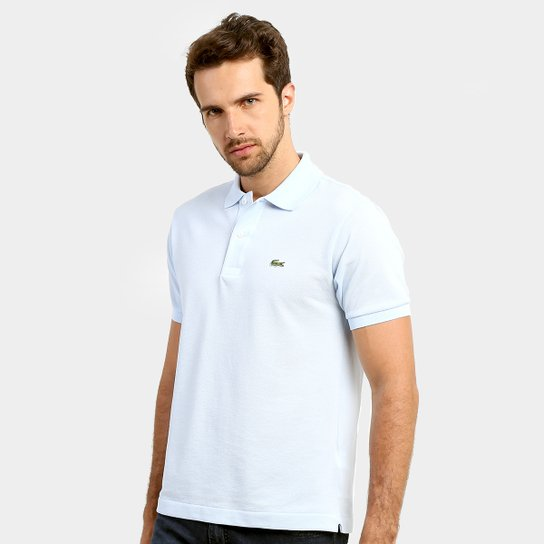 Camisa Polo Lacoste Original Fit Masculina - Azul Piscina+Verde. Loading. 045ee912f4