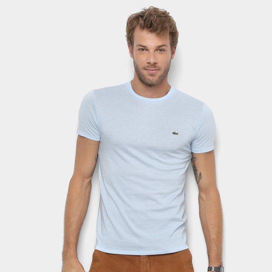 36999704baf Camiseta Lacoste Básica Jersey Masculina - Azul Piscina - Compre ...