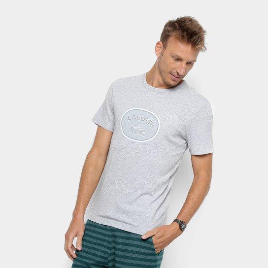243b8aabdbc Camiseta Lacoste Masculina - Cinza Claro - Compre Agora