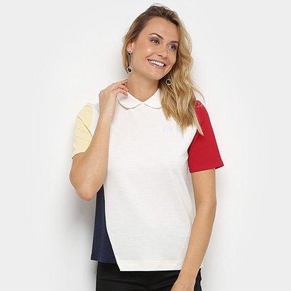 Camisa Polo Lacoste Botões Costas Feminina