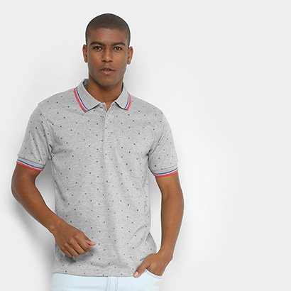 Camisa Polo Broken Rules Mini Print Geométrico Masculina