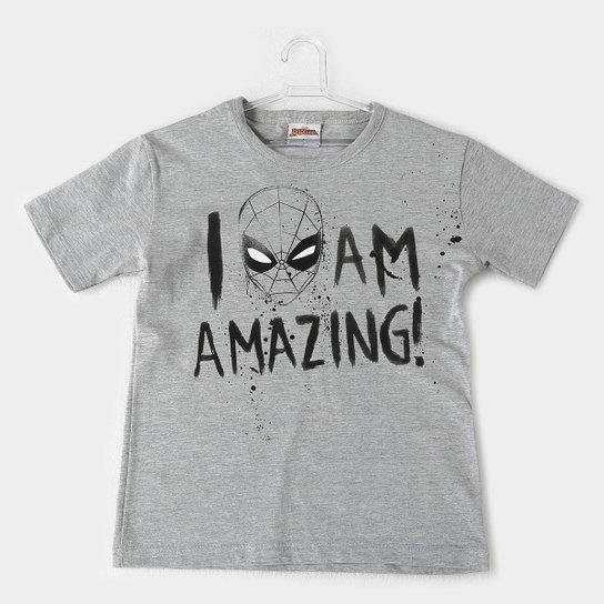 4ef7068e00 Camiseta Infantil Fakini Homem Aranha Masculina - Cinza Claro ...