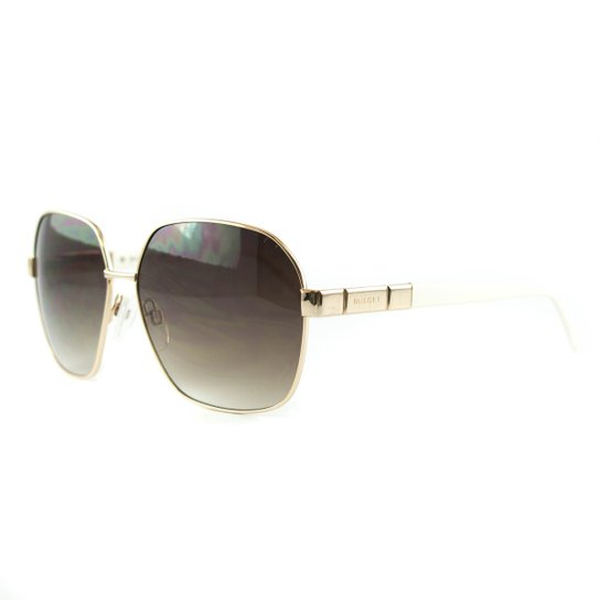 f74b9b0fe Óculos Bulget De Sol - Dourado e Branco | Netshoes