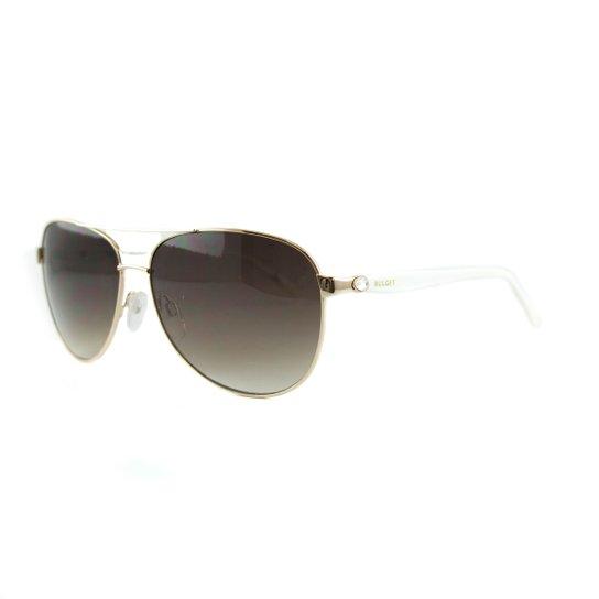 53cfc2509 Óculos Bulget De Sol - Dourado+Branco