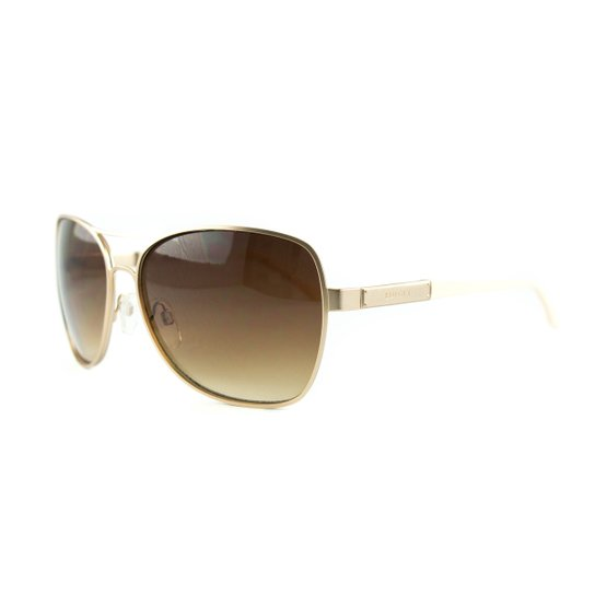 83502eb1a Óculos Bulget De Sol - Dourado+Branco