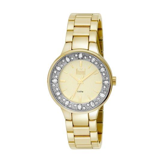 30c2e0fc78c Relógio Dumont Feminino Splendore - Dourado+Branco