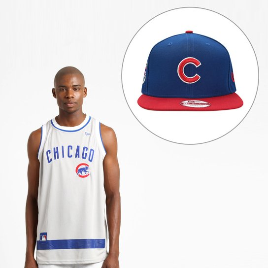 Kit Camiseta Regata New Era MLB + Boné Chicago Cubs - Compre Agora ... 521c22385c6