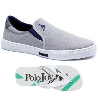 Kit Tênis Iate Lona + Chinelo Polo Joy Masculino 99d14d8aae1d3