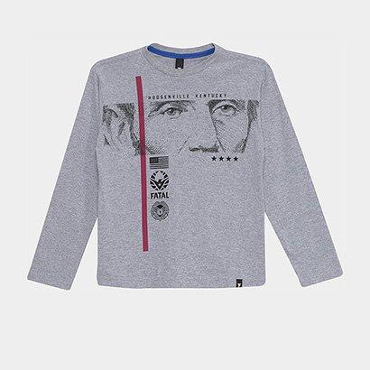 Camiseta Infantil Fatal Manga Longa Masculina