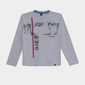 Camiseta Infantil Joma Europa Manga Longa - Compre Agora  7fb40ff6755ff