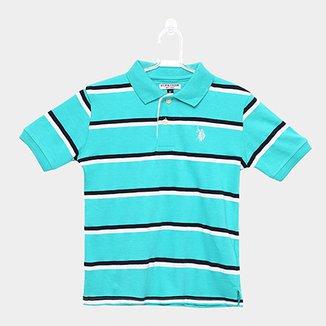 30de98382 Camisa Polo Infantil U.S. Polo Assn Kids Listrada Masculina