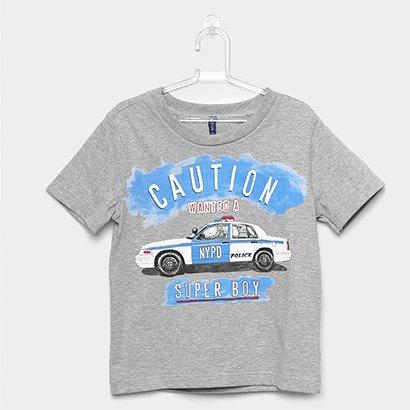 Camiseta Infantil Cativa Estampa Carro Feminina