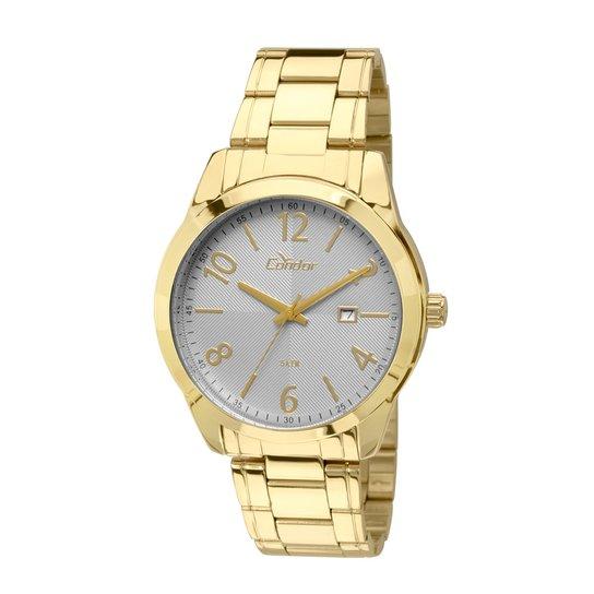 5545ba8732d Relógio Condor Masculino Casual - Dourado e Branco - Compre Agora ...