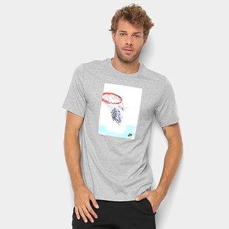 ed7287536c9af Camiseta Nike Estampa Basquete Swish Photo Masculina