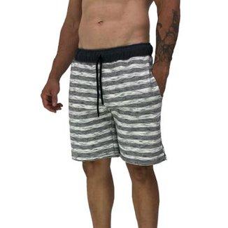 5c1f6cf3b Bermuda MXD Conceito Moletom Slim Listrado Masculina