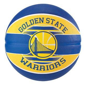 4e5d6a2e00fa1 Bola de Basquete Spalding NBA Golden State Warriors Team Rubber Basketball  Tam 7