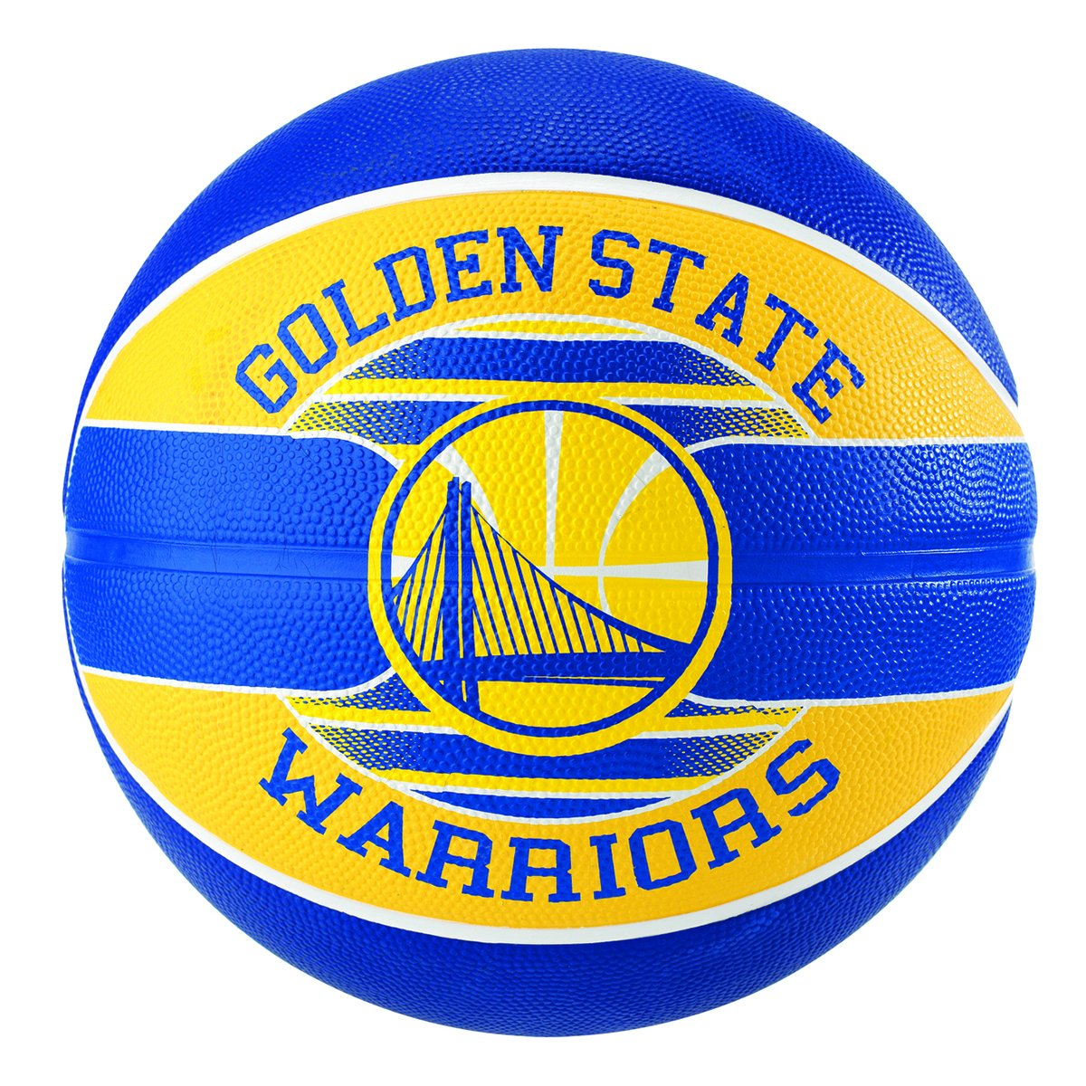 d14253a53 Bola de Basquete Spalding NBA Golden State Warriors Team Rubber Basketball  Tam 7