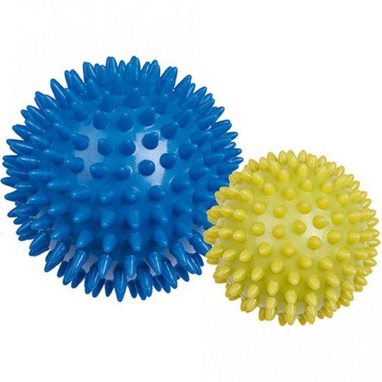 9d24845a4 Bola Massageadora Mor Relax Ball Fisioterapia 2 Unidades - Azul+amarelo