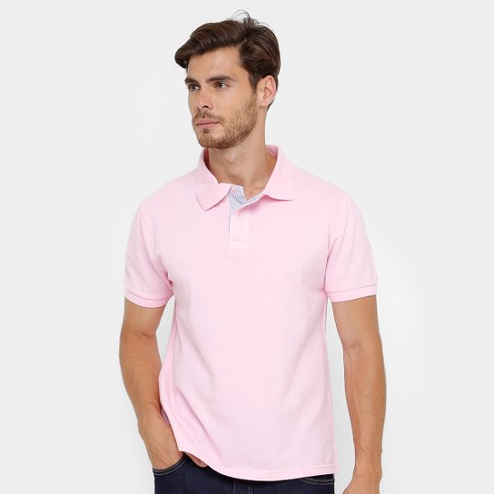 Camisa Polo Bluebay Piquet Lisa Color Masculina - Compre Agora ... 84be55d6b73ba