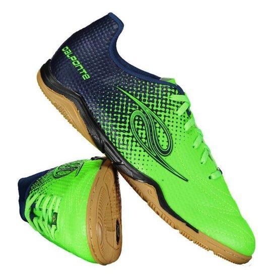 7cb71ef3114d5 Chuteira Futsal Dalponte Flash Masculina - Verde e Azul - Compre ...