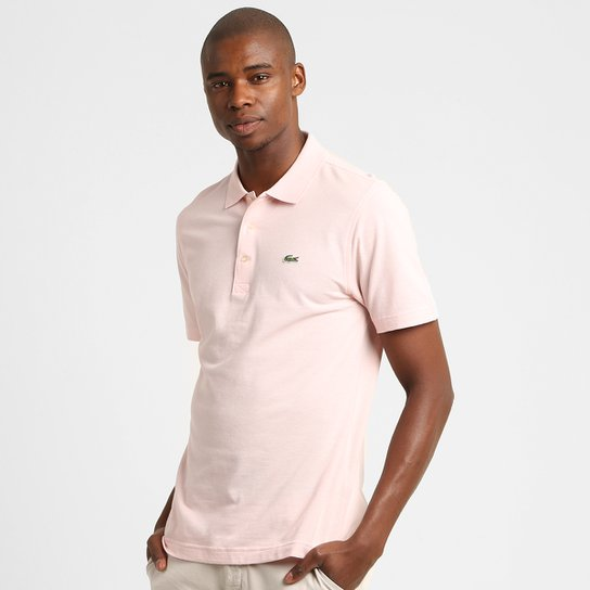 7f6564439f0 Camisa Polo Lacoste Super Light Masculina - Rosa Claro - Compre ...