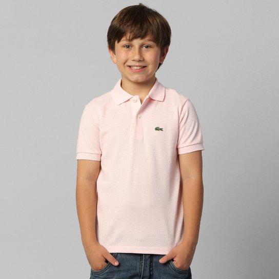 Camisa Polo Lacoste Piquet Infantil - Rosa Claro - Compre Agora ... a33b7c782e