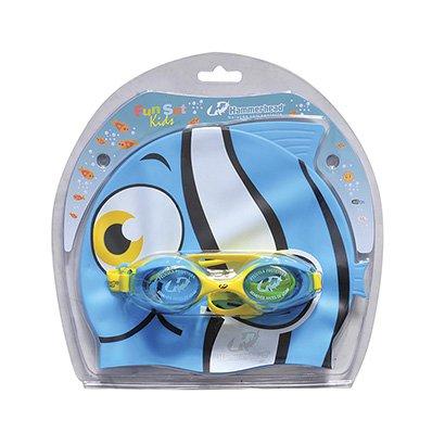 Kit Touca + Óculos de Natação Hammerhead Fun Set Infantil