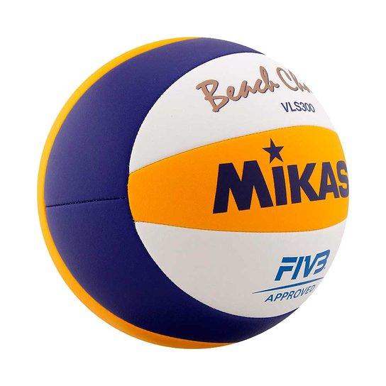a0e2d9f7c Bola Volei Praia Mikasa Vls 300 5281 - Azul e amarelo