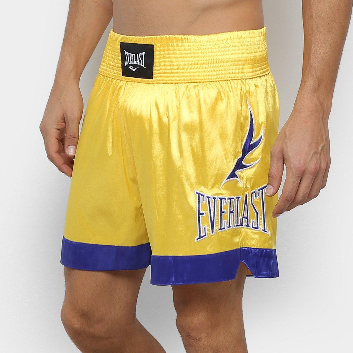 Shorts De Muay Thai/Boxe Everlast Bordados Laterais