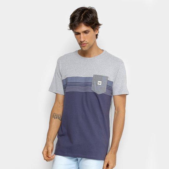 Camiseta Hang Loose Especial Acqua Masculina - Marinho e Cinza ... 848426863d5ab
