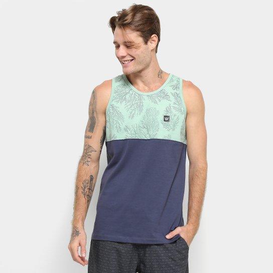Camiseta Regata Hang Loose Esp Coral -61.24.0036 - Verde e Azul ... 0e431f67d03