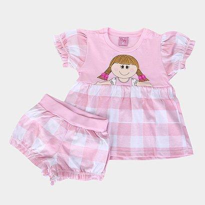 Pijama Infantil Evanilda Boneca Feminino