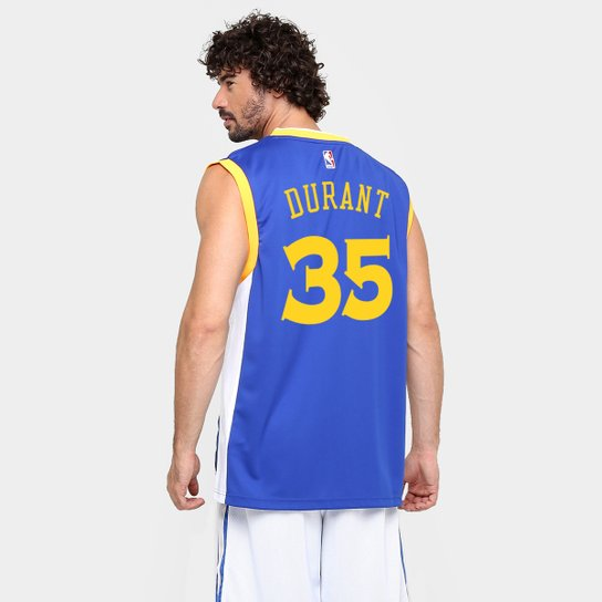 9e5306ff6 Camiseta Regata Adidas NBA Golden State Warriors - Durant - Azul+amarelo