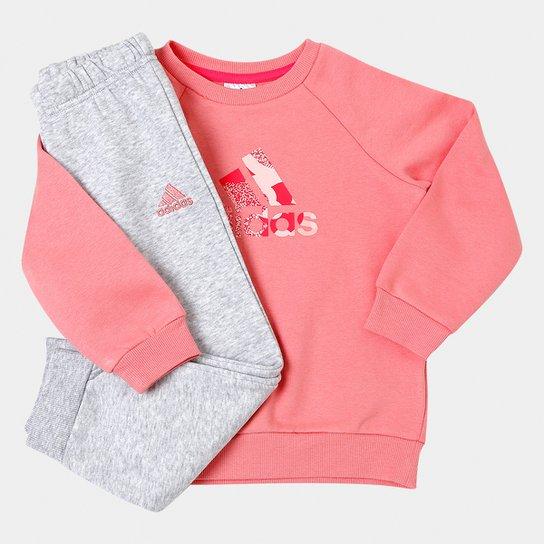 df5545380b Conjunto de Moletom Infantil Adidas Baby com Logo - Compre Agora ...