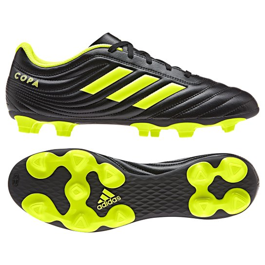 52c11186049a3 Chuteira Campo Adidas Copa 19 4 FG - Preto e Amarelo | Netshoes