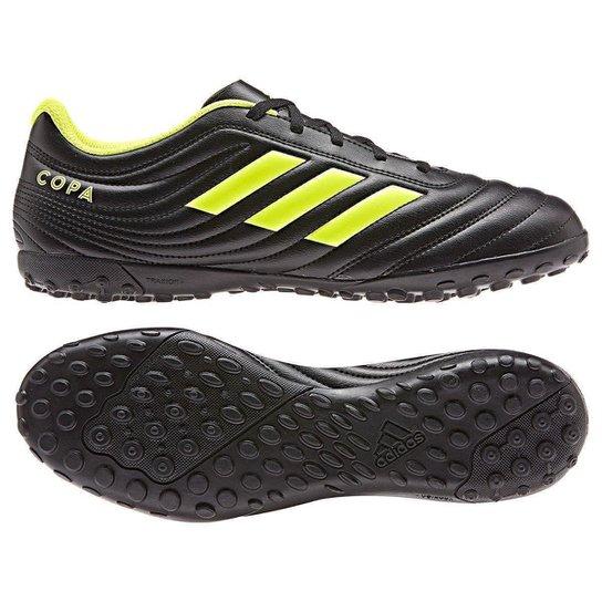 111184c208624 Chuteira Society Adidas Copa 19 4 TF - Preto e Amarelo - Compre ...