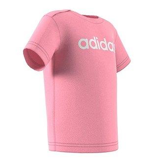 d73755057 Camiseta Infantil Adidas Estampa Logo Abertura Gola Bebê