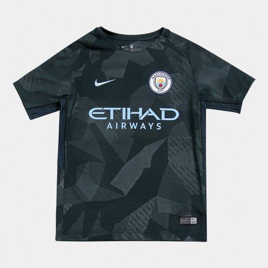 Camisa Manchester City Juvenil Third 17 18 s n° - Torcedor Nike ... 495a4d501f2