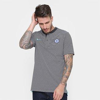 Camisa Polo Chelsea Nike Modern Masculina bd8bb2f0a2c24