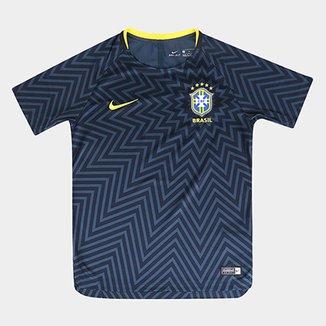 Camisa Seleção Brasil Juvenil 2018 Torcedor Treino Nike 800613e3e4f06
