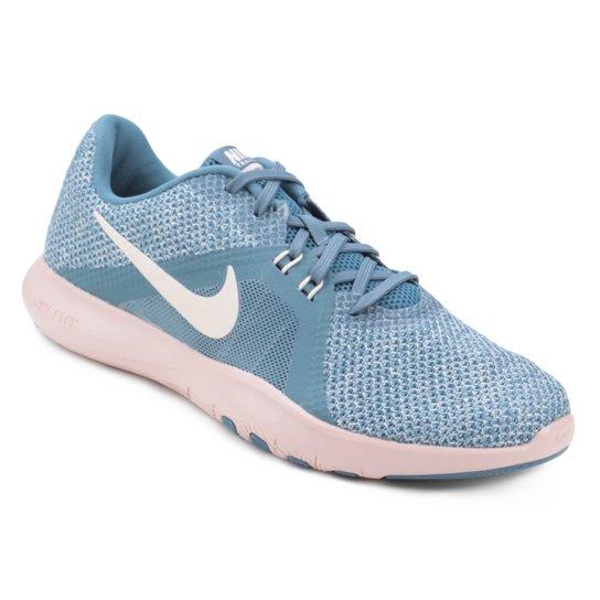 Tenis Nike Flex Trainer 8 Feminino Azul Claro