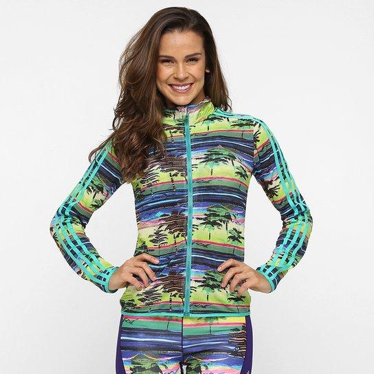 33f71b8e63f Jaqueta Adidas W G2 Salinas Feminina - Azul+Verde Limão
