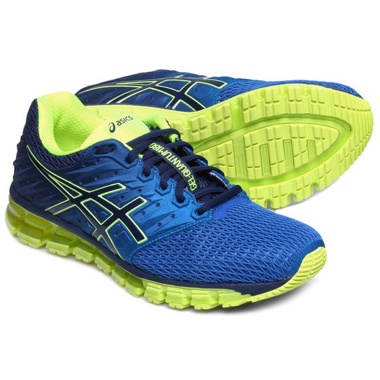t nis asics gel quantum 180 2 masculino azul e amarelo. Black Bedroom Furniture Sets. Home Design Ideas