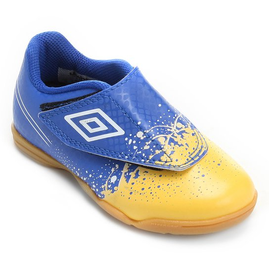 Chuteira Futsal Infantil Umbro Wave - Azul e amarelo - Compre Agora ... 7d9004ba924b2