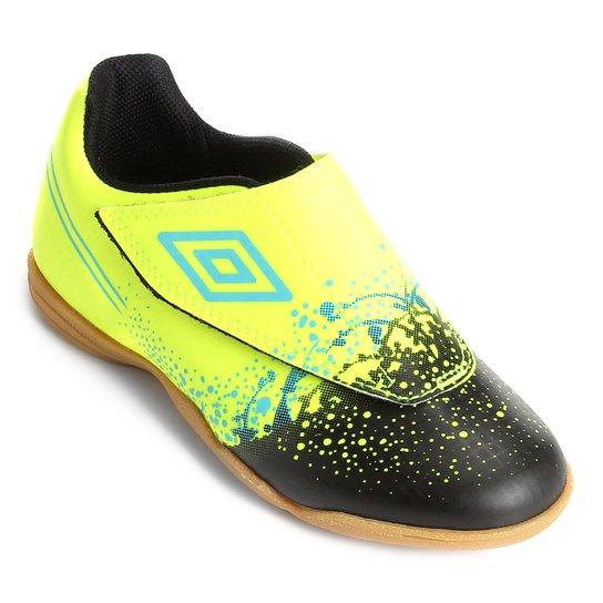Chuteira Futsal Infantil Umbro Wave - Verde e Azul - Compre Agora ... 7f16b78ad391b