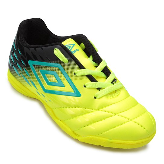 3156fcee62 Chuteira Futsal Infantil Umbro Fifty II - Verde e Azul