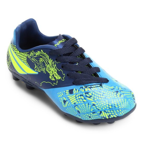 04ffdb192227a Chuteira Campo Infantil Penalty K Soccer Victoria Dragon 7 - Azul+Marinho