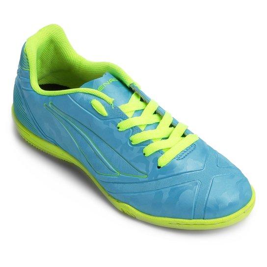 f1d4b391e5 Chuteira Futsal Infantil Penalty Socc Victoria RX VIII - Azul+amarelo